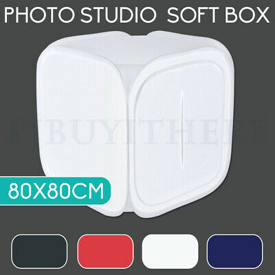 80CM Photography Studio Softbox Light Tent Cube Soft Box 4PCS Backdrops Kit Set