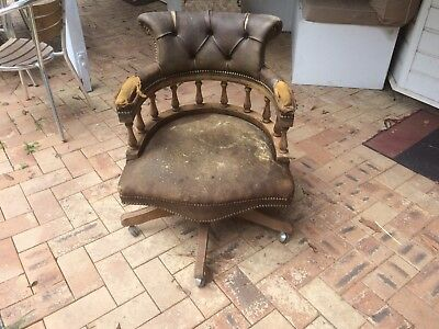 Vintage Chesterfield Captains Chair