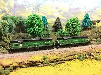 N Scale Burlington Northern SD-7 Locomotive Lot With MTL Knuckle Couplers