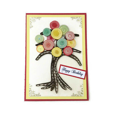 NEW Card Tree of Life Paper Quilled Tree-Birthday-Yellow-Nature Gardener Florist