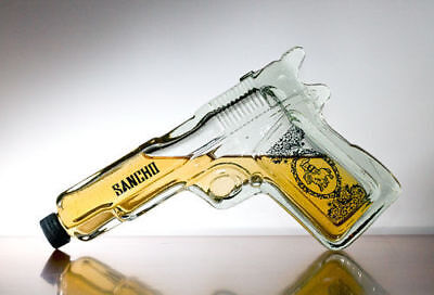 Pistol Gun Shaped Glass Tequila Bottle liquor spirits