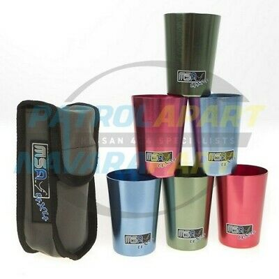 MSA Travel Cups Set 6cups for camping 4wd picnic (M-TC6)