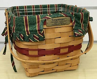 Longaberger Christmas Collection Cranberry Basket Combo 1995
