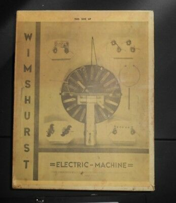 Vintage Wimshurst Electric Machine 1956 Electricity Education
