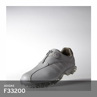 online store 40e1a 196e2 Adidas Mens Adipure Ray BOA Closeout Golf Shoes ThinSOF 7-Spikes F33200  Silver