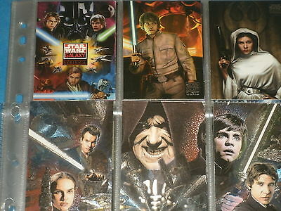 STAR WARS GALAXY Series 4: Complete Base Set Of 120 Trading Cards & Etched Foils