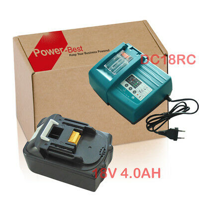 4.0Ah 18V Batterie + chargeur f Makita BL1830 BL1840 LXT Lithium-ion