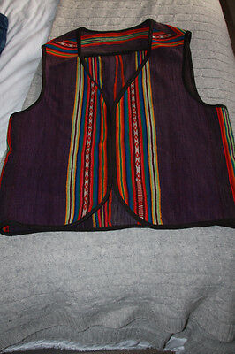 Genuine, beautiful, South American handmade waistcoat - size M