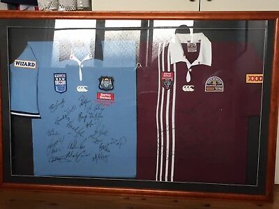 State Of Origin Nsw Queensland Signed Jersey