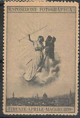 66187 - ITALY - VINTAGE POSTER STAMP: Florence capital of PHOTOGRAPHY 1899