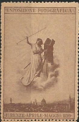 66186 - ITALY - VINTAGE POSTER STAMP: Florence capital of PHOTOGRAPHY 1899