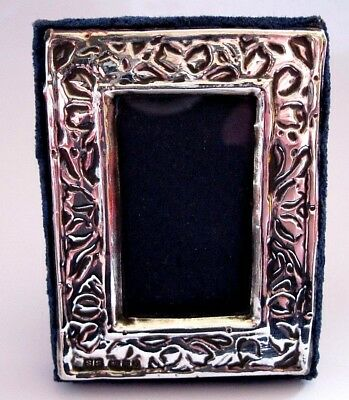 Sweet Solid Sterling Silver Vintage 1985 Hallmarked Photo Picture Frame 5 X 7Cm
