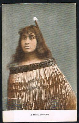 new zealand a maori princess nice printed postcard