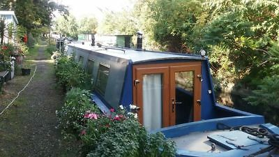 63ft narrowboat with residential mooring