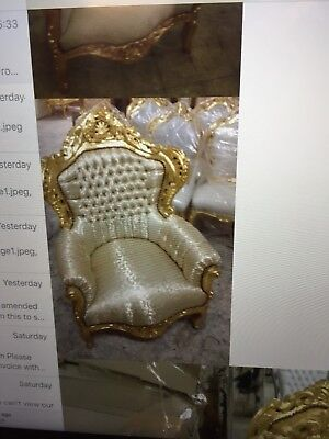 French gold carved arm chair