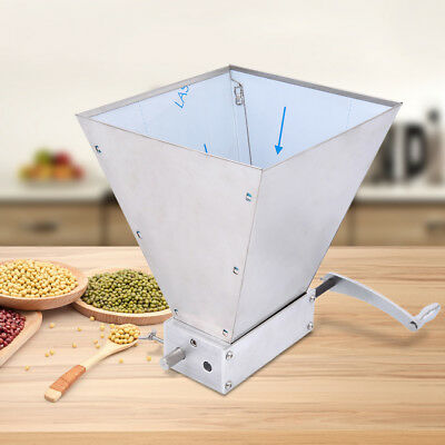 Homebrew Grain Mill Barley Grinder Malt Crusher 2 Roller with Hopper