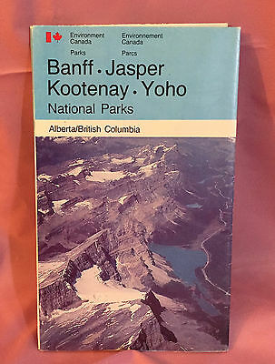 Vintage Rogers pass Canada National Parks brochure and map