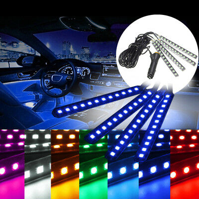 4x Auto Strip SUV 12LED 5050 Unterboden Beleuchtung Innenraumbeleuchtung Fußraum