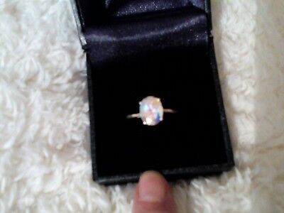925 Sterling Silver Moonlight Mystic Topaz Ring Size P