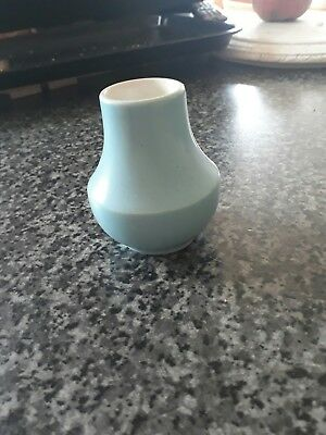 Small blue Poole bud vase excellent condition vintage