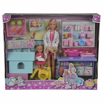 NEW Steffi Love Animal World Playset with Articulated Steffi & Evi Dolls