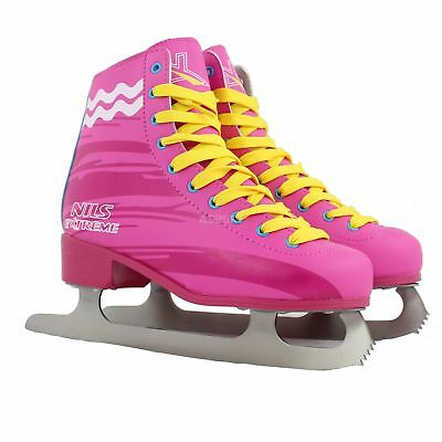 Womens figure ICE SKATES pink CARBON Nils
