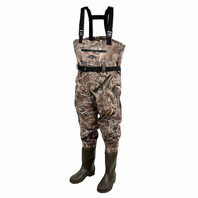 Prologic NEW Max5 Nylo-Stretch Chest Waders With Cleated Soles Size 7.5 - 8