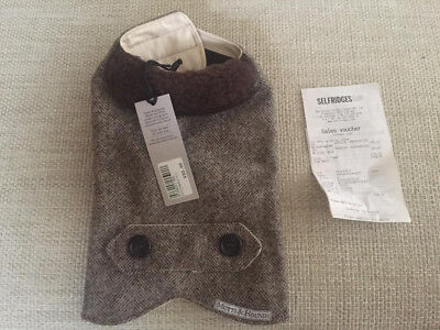 Mutts and Hounds Dog Coat Herringbone - XX Small - Brand New with Tags/Receipt