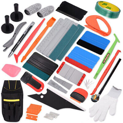 Eco Car Vinyl Wrapping Tools 3M Felt Squeegee Snitty Cutter Installation Combo