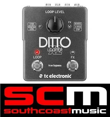 TC Electronic Ditto X2 Looper Guitar Loop FX Pedal 5 Minutes Of Looping Warranty