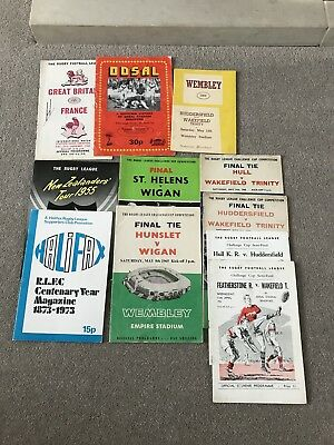 COLLECTION 1960s RUGBY LEAGUE PROGRAMMES ENGLAND HULL LEEDS HUDDERSFIELD YORK