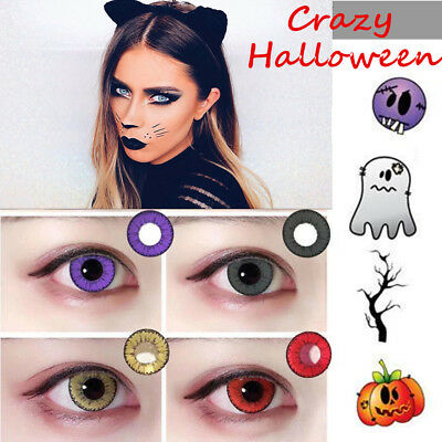 Coloured Contact Lenses Crazy Halloween Coloured Cosmetic Makeup Cosplay lens G7