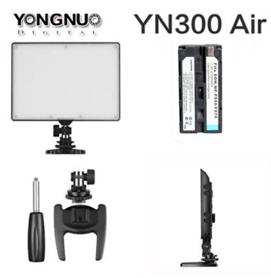Yongnuo YN300 Air Pro LED Video Light 3200-5500K Color for Nikon with battery