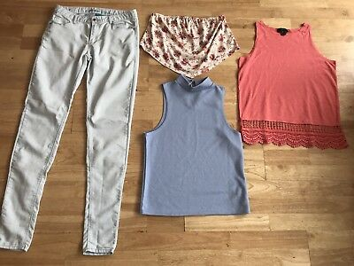 Bundle Women's Clothes Size 10 Skinny Jeans Tops New Look Boohoo