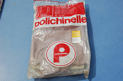 CLOTHING VINTAGE UNDER SWEATER CHILD 8 yrs Polichinelle white and brown garage