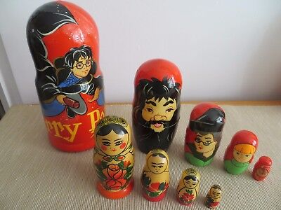 Russian Matrushka Dolls - Harry Potter x 5 and Traditional x 4