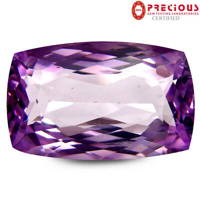 8.42 ct PGTL Certified Superior Cushion Shape (15 x 10 mm) Pink Kunzite Gemstone