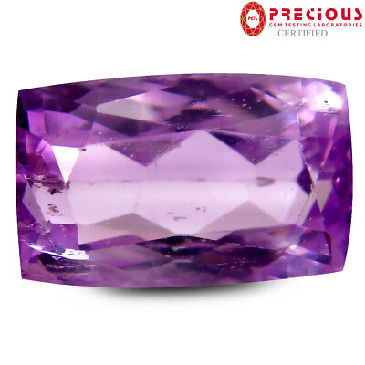 7.84 ct PGTL Certified Incredible Cushion Shape (14 x 9 mm) Pink Kunzite