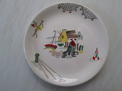 Alfred Meakin side plate in the Polperro fisherman design