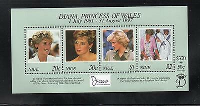 Niue 1999 Diana Commem Sheet. MINT/MNH One postage for multi buys. Rx