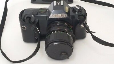 Canon T50 SLR Programable 35 mm Film Camera - Spot on Viewfinder SOLD AS-IS   B2