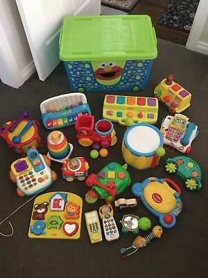 Huge Bulk Lot Baby / Toddler Toys, Fisher Price, Vtech Playskool And More!