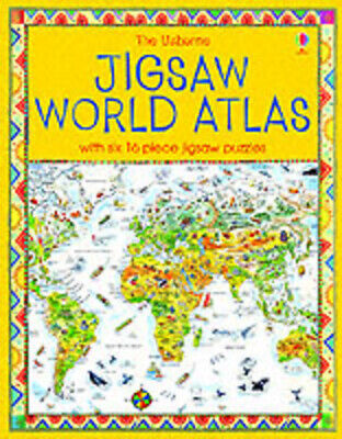 The Usborne Jigsaw World Atlas by Colin King (Paperback)