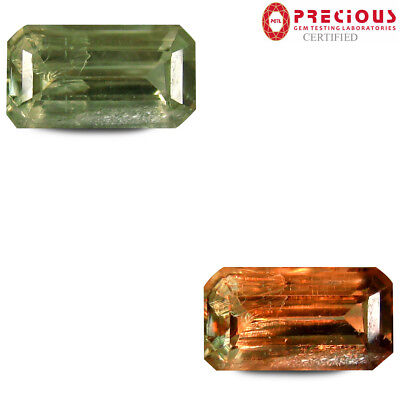 3.58 ct PGTL Certified Topnotch Octagon (12 x 7 mm) Un-Heated Change Diaspore