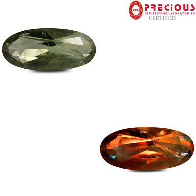 3.60 ct PGTL Certified  Oval Cut (15 x 7 mm) Un-Heated Color Change Diaspore