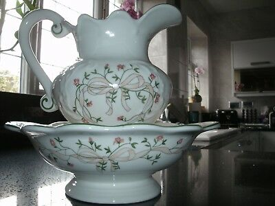 Eternal Beau Large Jug And Wash Bowl In Excellent Condition