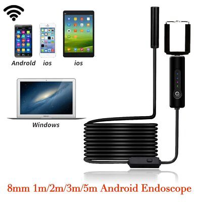 8MM WiFi Endoscope Inspection Camera Waterproof for iPhone Android PC iPad IOS 5