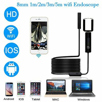 5M 8mm Android Endoscope Waterproof Snake Borescope USB Inspection Camera O5