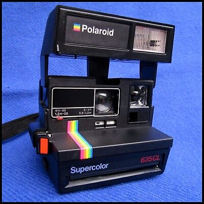polaroid 635 cl camera instant 600 film working tested 635cl picclick uk. Black Bedroom Furniture Sets. Home Design Ideas