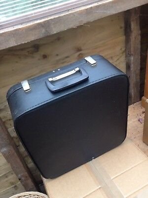 Black Vanity Case Vintage storage travel small medium